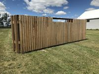 WD Fab  (4) 24 Ft Free Standing Wind Fence