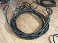 "Northern Strands  (3) 1"" X 20 Wire Rope Slings"