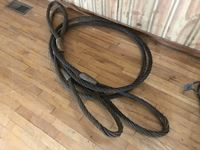 "CMS  (2) 1 1/8"" Wire Rope Slings"