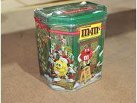 M&M Happy Holidays Candy Can