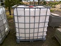 (3) Poly 1000 Litre Caged Poly Tanks