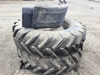 (2) 14.9R34 Tires & Rims, (2) Tractor Front Fenders