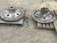 (2) Agco Rear Tractor Cast hubs