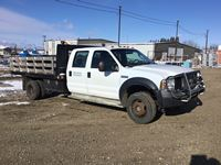 2006 Ford F550 4x4 Crew Cab Dually Deck Truck