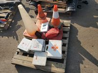 Pallet of First Aid Kits & Safety Cones