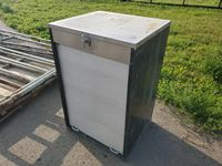 "32"" W x 48"" H x 28"" D Steel Cabinet w/ Roll up Door"