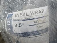 Pallet of Pipe Insulation & Blue Tarps