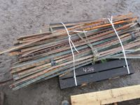 Pallet of Steel Fence Posts