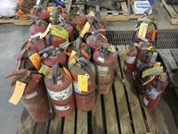 Pallet of Fire Extinguishers