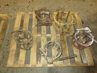 (5) Pipe Line Up Clamps