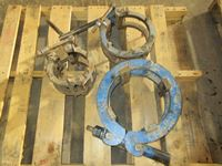 (3) Pipe Line Up Clamps