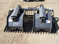 "Skid Steer 72"" Open Bottom Serrated Edge Grapple Bucket (new)"