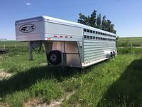 2020 Four Star  24 Ft T/A G/N Aluminum Stock Trailer (new)
