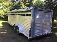 2001 4 Star  24 FT G/N T/A Aluminum Stock Trailer