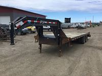 2014 PJ  G/N T/A 26 FT Flat Deck Trailer