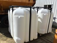 (2) New 630 Gallon Zee Best Poly Water Tanks