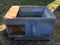 (4) Blue Johnson Concrete Cattle Water Bowls