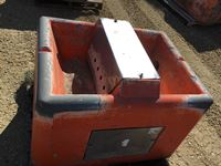 (1) Orange 250 Concrete Cattle Water Bowl