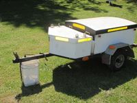 Custom Built S/A Pull Behind Motorcycle Utility Trailer