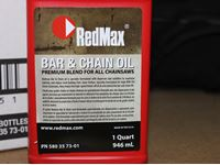 (12) Red Max Bar & Chain Oil