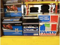 (9) Batteries, Various Sizes, Power Sonic, Parts Canada,