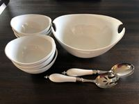 (9) Piece Salad Bowl Set