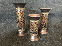"PartyLite 9"", 11"", 13"" Global Fusion Columns"