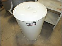 Metal Round Flour Bin & Metal Shelf Unit