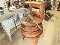 Wooden Hand Operated Wringer  Washer