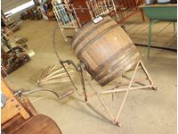 Wooden Barrel Butter Churn