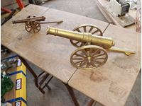 (2) Brass Mini Cannons