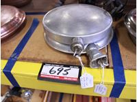 (2) Aluminum Hotwater Bed Warmer