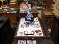 Tile Tray w/ Lighted Wind Mill