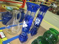 (2) Kobalt Blue Glass Vases