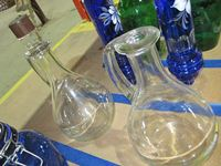 (2) Glass Wine Serving Jugs