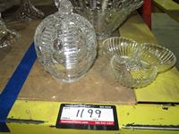 (3) Glass Bowl & Tray