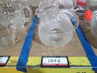 (2) Glass Pitchers
