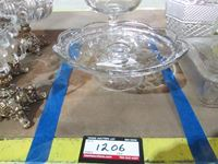 Glass Food Bowl & Glass Food Plate On Stands