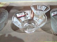 Glass Food Bowl With Dip Bowl