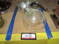 Large Glass Jar With Lid, Cookie Jar, Glass Water Kettle