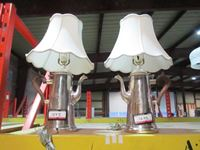 Silver Coffee Pot Lamps