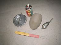 Razor Strop, Oil Can, One Day Antique Kit, & Scale Pot