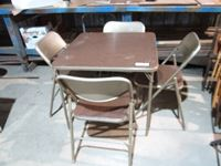 (6) Folding Chair, Table & Chair Set