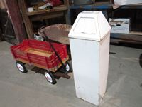 Garbage Can, Wheelbarrow & Kids Wagon