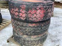 (3) 425/65R22.5 Tires on Aluminum Rims