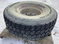 445/65R22.5 Tire on Aluminum Rim