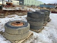 (14) 11R24.5 Tires