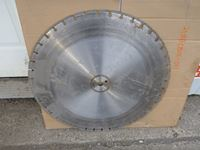 (2) Concrete Cutter Blades