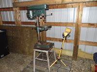 Drill Press with Stand and a Two Light Stand