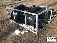 72 In. Hydraulic Skid Steer Rock Grapple Bucket (Unused )